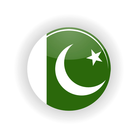 islamabad: Pakistan icon circle isolated on white background. Islamabad icon vector illustration