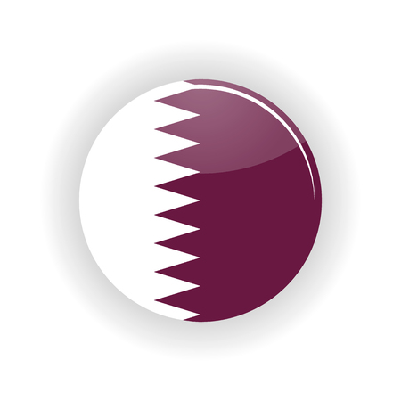doha: Qatar icon circle isolated on white background. Doha icon vector illustration Illustration