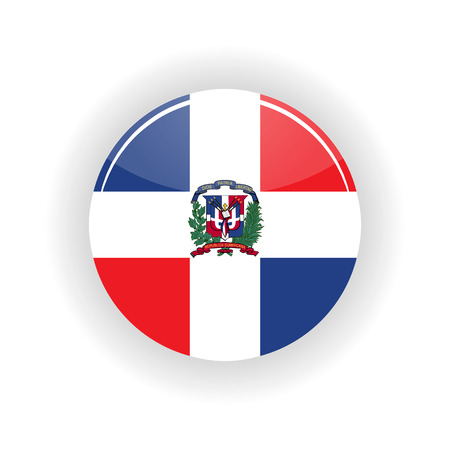Dominican republic icon circle isolated on white background. Santo Domingo icon vector illustration Illustration