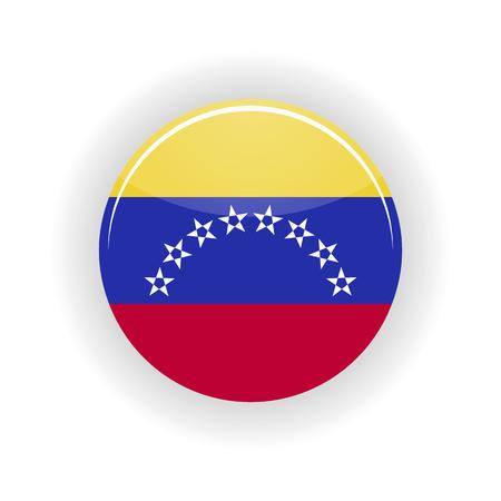 caracas: Venezuela icon circle isolated on white background. Caracas icon vector illustration