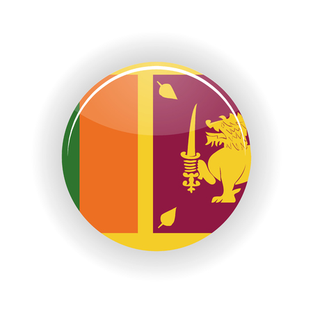 colombo: Sri Lanka icon circle isolated on white background. Colombo icon vector illustration