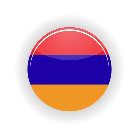 yerevan: Armenia icon circle isolated on white background. Yerevan icon vector illustration
