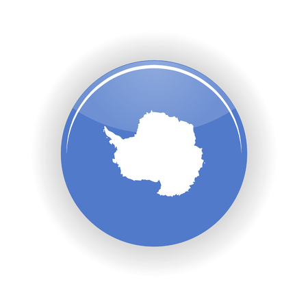 antarctica: Antarctica icon circle isolated on white background. Antarctica icon vector illustration