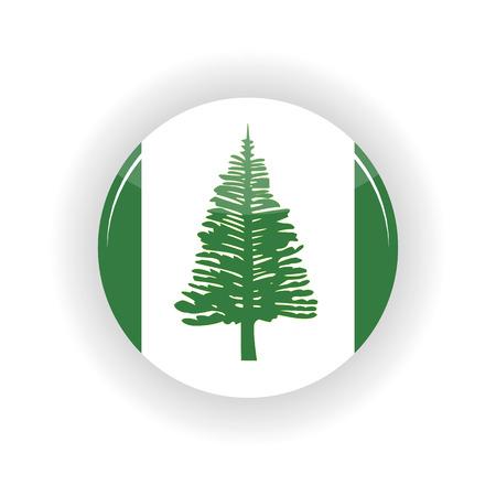 kingston: Norfolk Islands icon circle isolated on white background. Kingston icon vector illustration Illustration