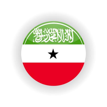 somaliland: Somaliland icon circle isolated on white background. Hargeisa icon vector illustration Illustration