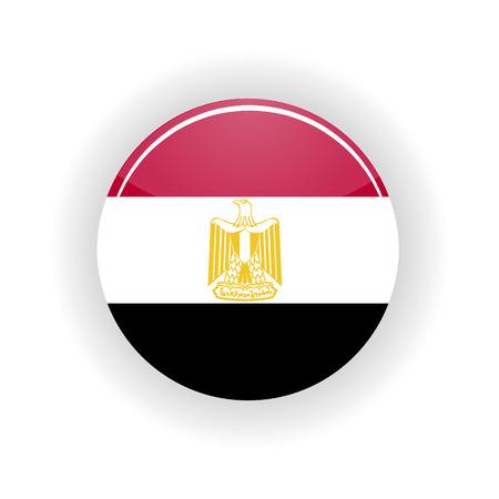 cairo: Egypt icon circle isolated on white background. Cairo icon vector illustration
