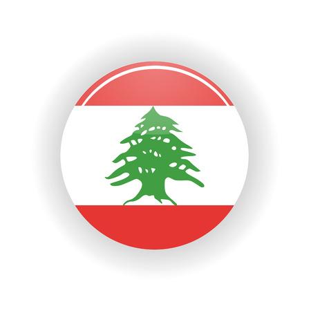 beirut: Lebanon icon circle isolated on white background. Beirut icon vector illustration