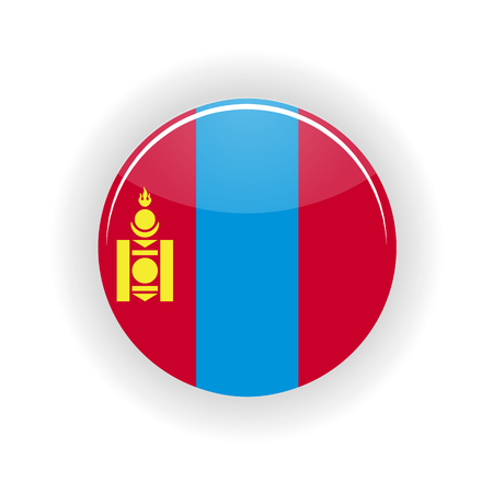 territory: Mongolia icon circle isolated on white background. Ulaanbaatar icon vector illustration Illustration