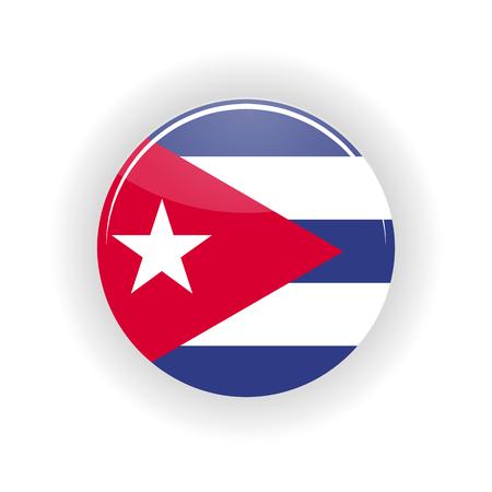 havana cuba: Cuba icon circle isolated on white background. Havana icon vector illustration Illustration