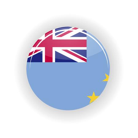 Tuvalu icon circle isolated on white background. Funafuti icon vector illustration