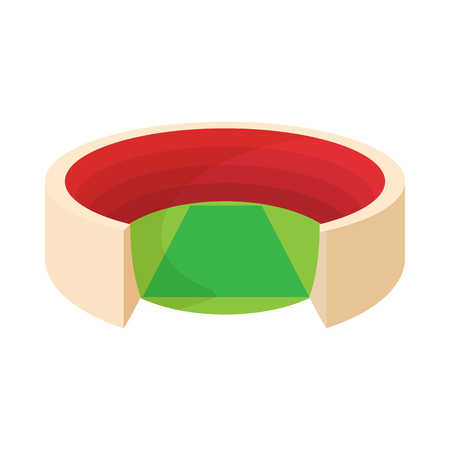 Round stadium icon in cartoon style isolated on white background. Sport symbol Illustration