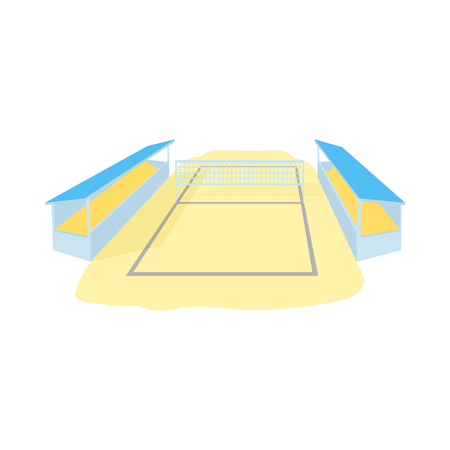 Stadium for volleyball icon in cartoon style isolated on white background. Sport symbol Illustration