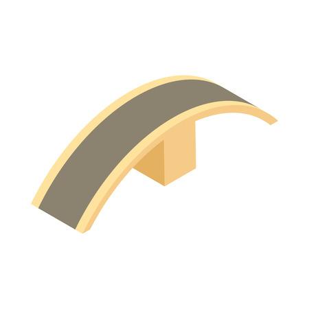 Bridge slide icon in cartoon style isolated on white background. Architecture symbol Illustration