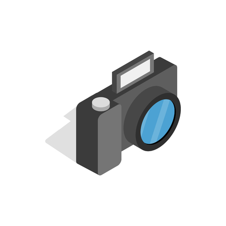 Camera icon in isometric 3d style on a white background