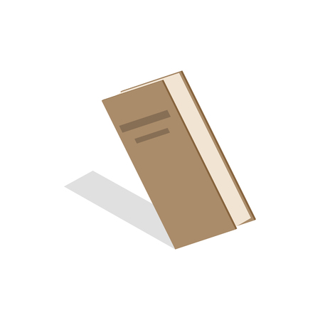 closed book: Closed book icon in isometric 3d style on a white background Illustration