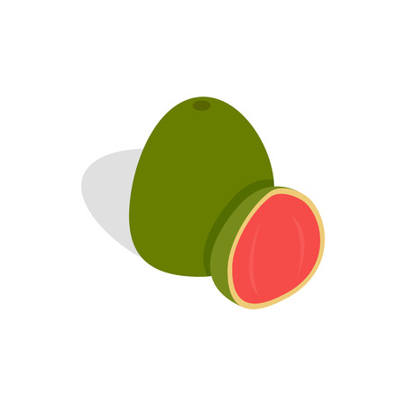 guava fruit: Guava fruit icon in isometric 3d style on a white background
