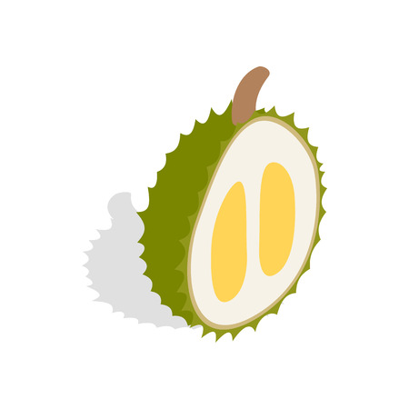 Durian icon in isometric 3d style on a white background Illustration