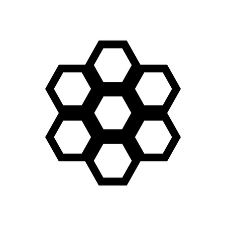beeswax: Honeycomb icon in simple style on a white background Illustration