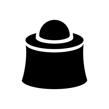 apiarist: Apiarist mask icon in simple style on a white background Illustration