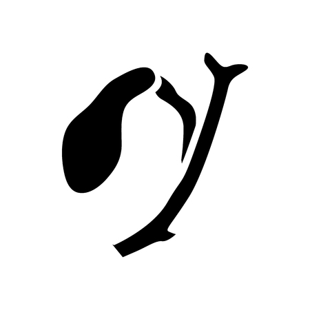 cystic duct: Human gallbladder icon in simple style on a white background Illustration
