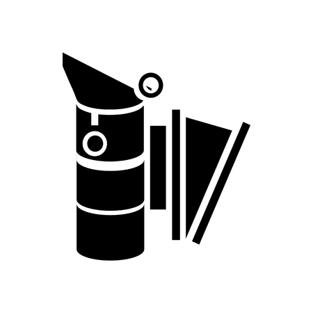 strainer: Bee smoker icon in simple style on a white background