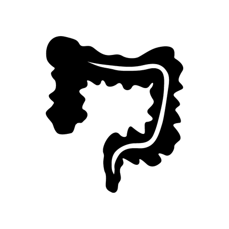 Human colon icon in simple style on a white background Иллюстрация