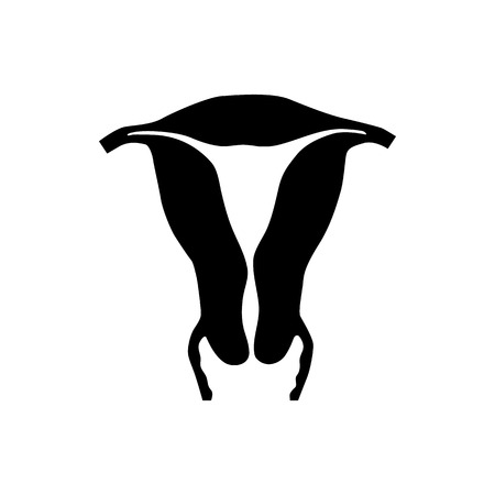 Uterus icon in simple style on a white background