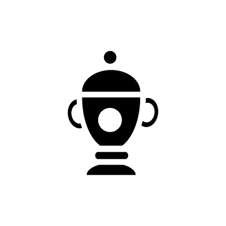 urn: Funeral urn icon in simple style on a white background
