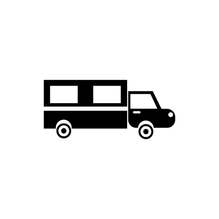 hearse: Hearse icon in simple style on a white background