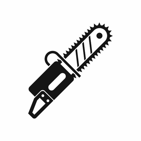 Chainsaw icon in simple style on a white background Illustration