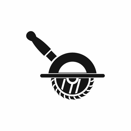 Circular saw icon in simple style on a white background