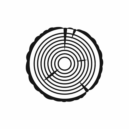 tree ring: Tree ring icon in simple style on a white background Illustration
