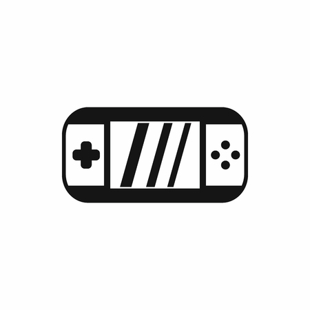 psp: Portable video game console icon in simple style on a white background Illustration