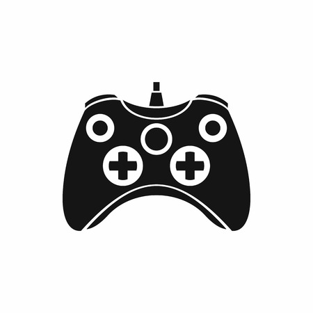 Video game controller icon in simple style on a white background Illustration
