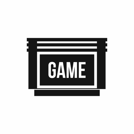 cartridge: Game cartridge icon in simple style on a white background