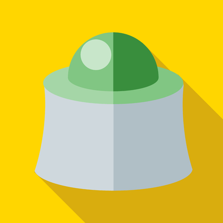Mask beekeeper icon in flat style with long shadow. Protection symbol