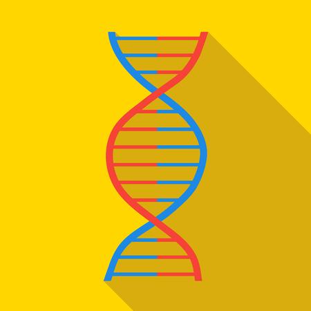 macromolecule: DNA icon in flat style with long shadow. Macromolecule symbol Illustration