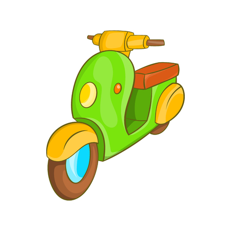 Scooter motorbike icon in cartoon style on a white background Illustration