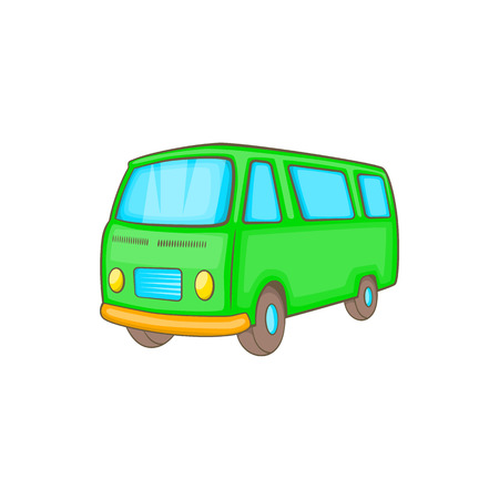 combi: Classic van, retro style icon in cartoon style on a white background