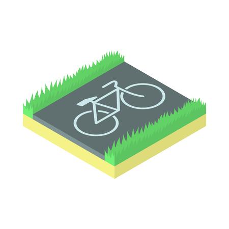 bike parking: Bike parking icon in cartoon style on a white background