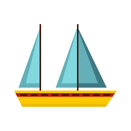 sea transport: Boat icon in flat style isolated on white background. Sea transport symbol
