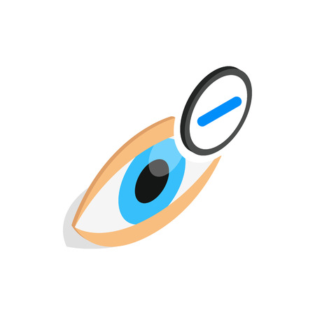 myopia: Vision myopia icon in isometric 3d style isolated on white background. Vision symbol Illustration