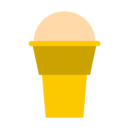 Ice cream icon in flat style isolated on white background. Sweet symbol
