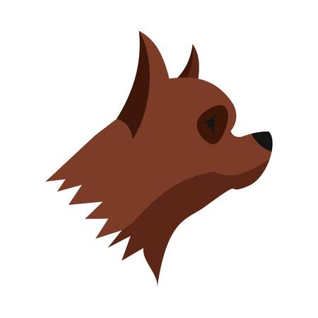 pinscher: Pinscher dog icon in flat style isolated on white background. Animals symbol Illustration