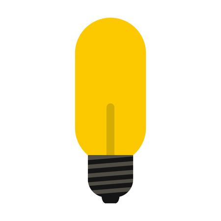 halogen lighting: Halogen lamp icon in flat style isolated on white background. Lighting symbol Illustration