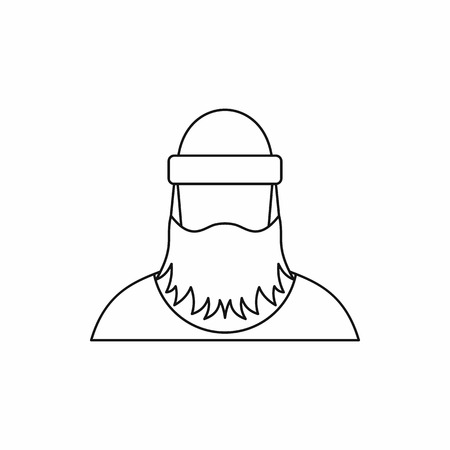lumberjack: lumberjack icon in outline style isolated on white background