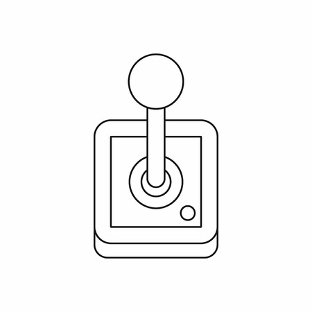 shifter: Stick shift, transmission icon in outline style isolated on white background