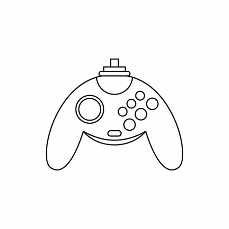 Gamepad icon in outline style isolated on white background