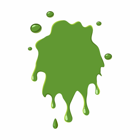 slime: Slime spot isolated on white background. Green slime spot vector illustration
