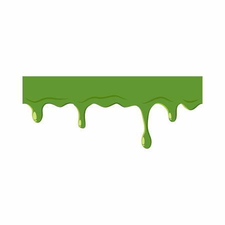 Slime Oozing isolé sur fond blanc. slime vert illustration vectorielle Banque d'images - 61448867